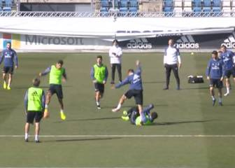 Real Madrid training: CR7 stays in gym, Ramos rejoins group