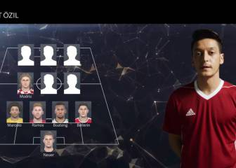 Ozil elige su XI ideal para el Pro Evolution Soccer 2017