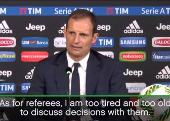 Allegri too 'old and tired' to talk with referees