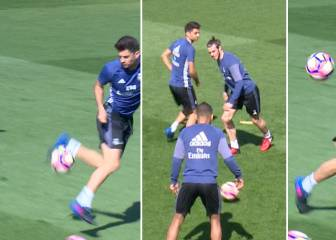 Enzo, a chip off the old block: Zidane Jr's training tricks