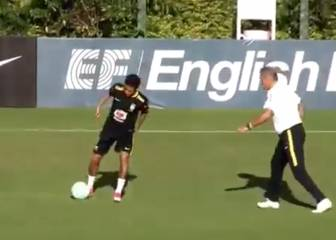 Neymar tries and fails to make a mug of Brazil boss Tite
