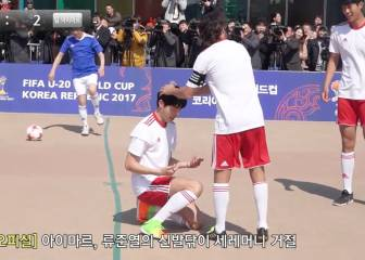 Aimar given 'shoe shine' celebration routine in Korea
