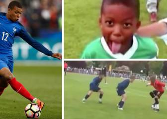 A star is born: Mbappé shows off amazing skills, aged 10