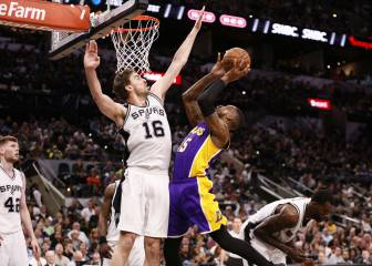 Resumen de Los Ángeles Lakers-San Antonio Spurs de la NBA