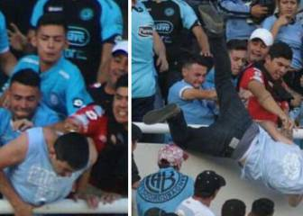 Belgrano supporter pushed off stadium stand dies of injuries