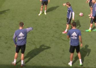Cristiano ticks off Modric for 'rasied elbow' in training