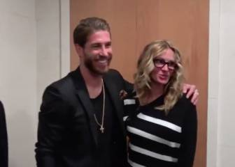 Julia Roberts thrilled to meet Sergio Ramos at the Bernabéu