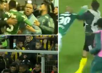 Peñarol-Palmeiras match ends in mass players and fans brawl