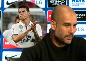 Guiño de Guardiola a James...