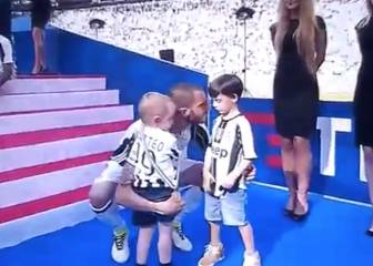 Bonucci's Torino-supporting son pouts in Juventus shirt