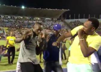 Bolt celebrates with jolly jig after winning final home 100m