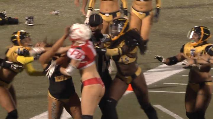 Girls go wild at the Legends Football League