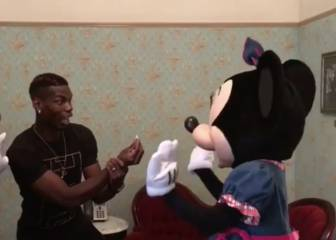 Pogba proposes to Minnie Mouse - and is given the brush-off!