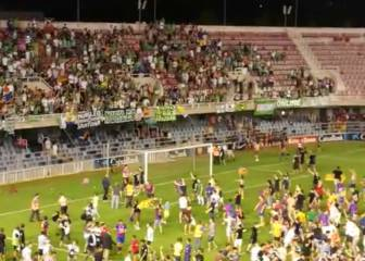Barça fans taunt visiting Racing supporters after play-off win