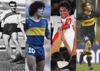 Diez superestrellas que jugaron en Boca Juniors o River Plate