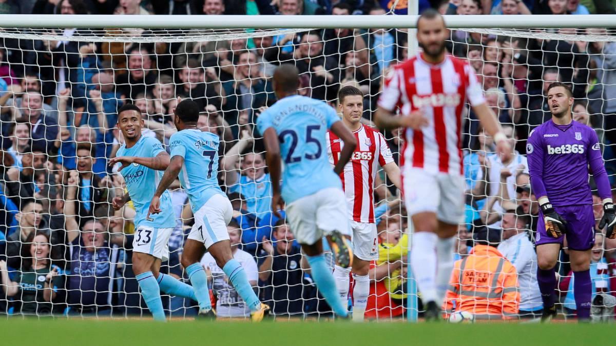 Manchester City 7-2 Stoke: resumen, goles y resultado