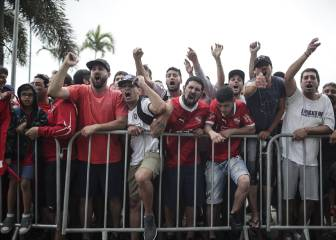Barras de Flamengo intentan asaltar el hotel de Independiente