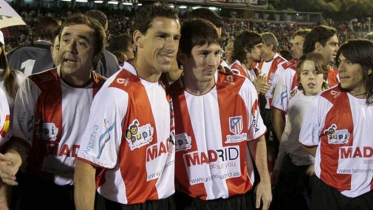 Leo Messi did once wear an Atlético shirt, Cholo...