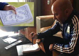 Sampaoli explains the 'notebook photo' captured by AS