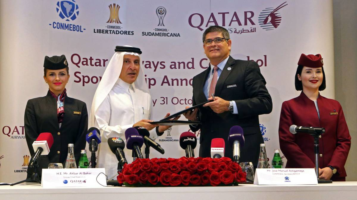 Qatar Airways becomes global airline partner of CONMEBOL