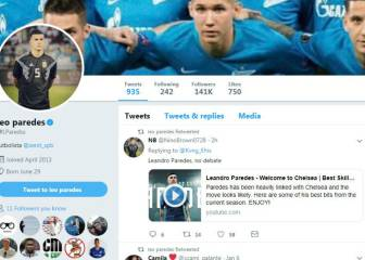 Has Paredes just confirmed his Chelsea move on Twitter?