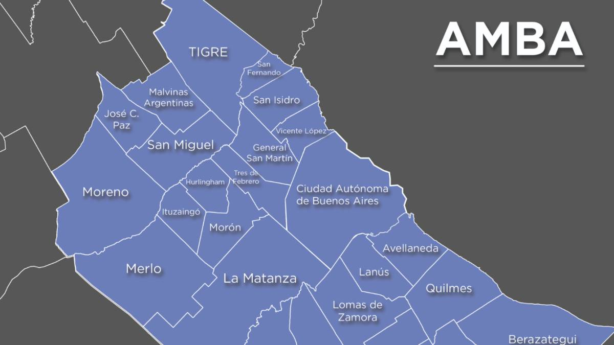 Coronavirus Qué es el AMBA y qué zonas del Área Metropolitana ...