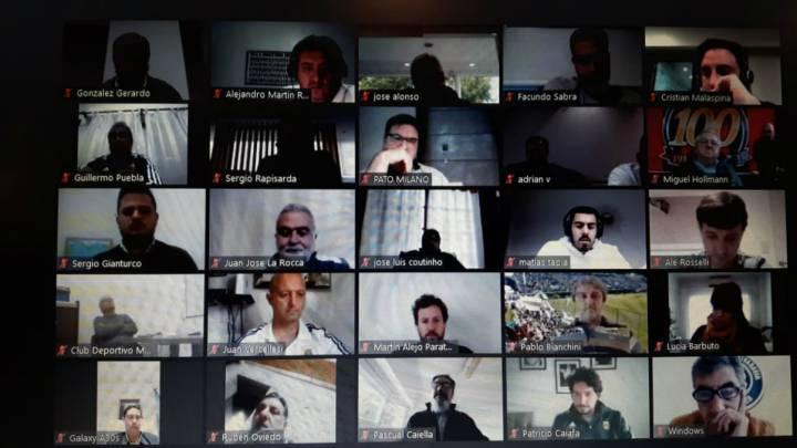 Reunión virtual de la AFA por el regreso del fútbol
