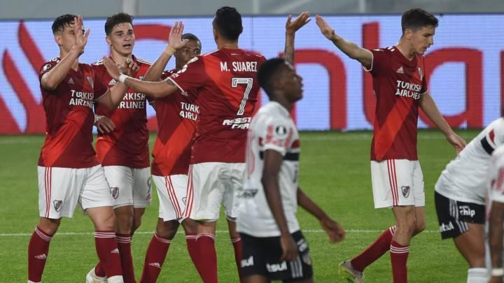 River le ganó 2-1 a San Pablo y está en octavos de final