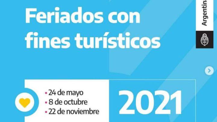 Feriados 2021: ¿qué puentes turísticos ha fijado el gobierno? - AS Argentina