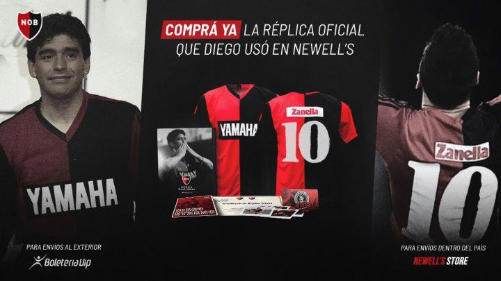 Newell S Sacó A La Venta Una Réplica De La Camiseta Que Usó Maradona Y Que Mostró Messi As Argentina