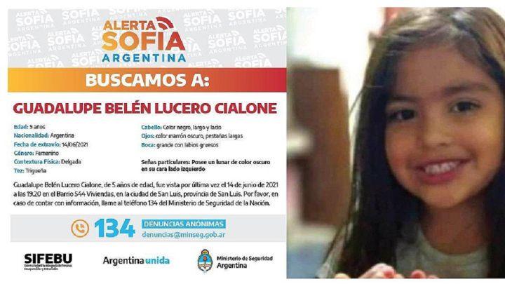Caso Guadalupe: últimas noticias y novedades de la niña desaparecida en San  Luis - AS Argentina