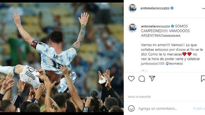 Argentina campeón: así festejaron Antonela Roccuzzo y las familias de los jugadores