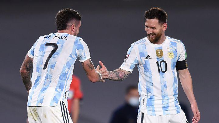 Argentina 3-0 Uruguay El 1x1 de Argentina: De Paul y Messi llevan las riendas - AS Argentina