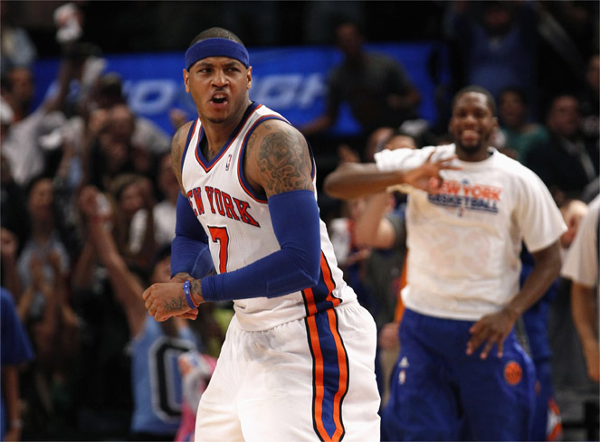 """Melo"" anotó 41 puntos y los Knicks acortan distancias"