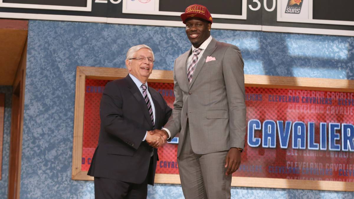 Anthony Bennett, en la ceremonia del draft.