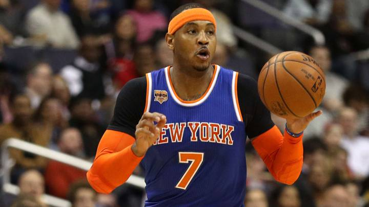 Carmelo Anthony, durante un partido con los New York Knicks.
