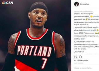 C.J. McCollum pide a Carmelo Anthony para sus Blazers