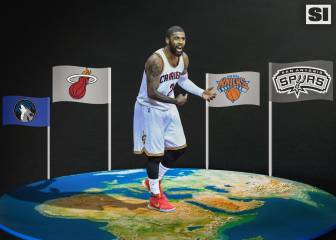 Los posibles destinos para Irving: Spurs, Heat, Wolves y Knicks