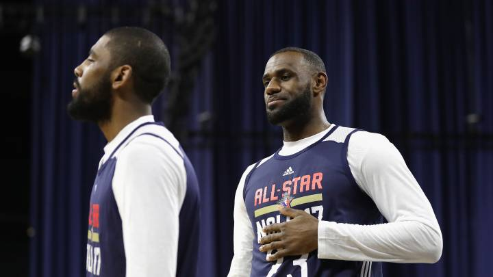 Kyrie Irving y LeBron James, durante el All Star de Nueva Orleans 2017.