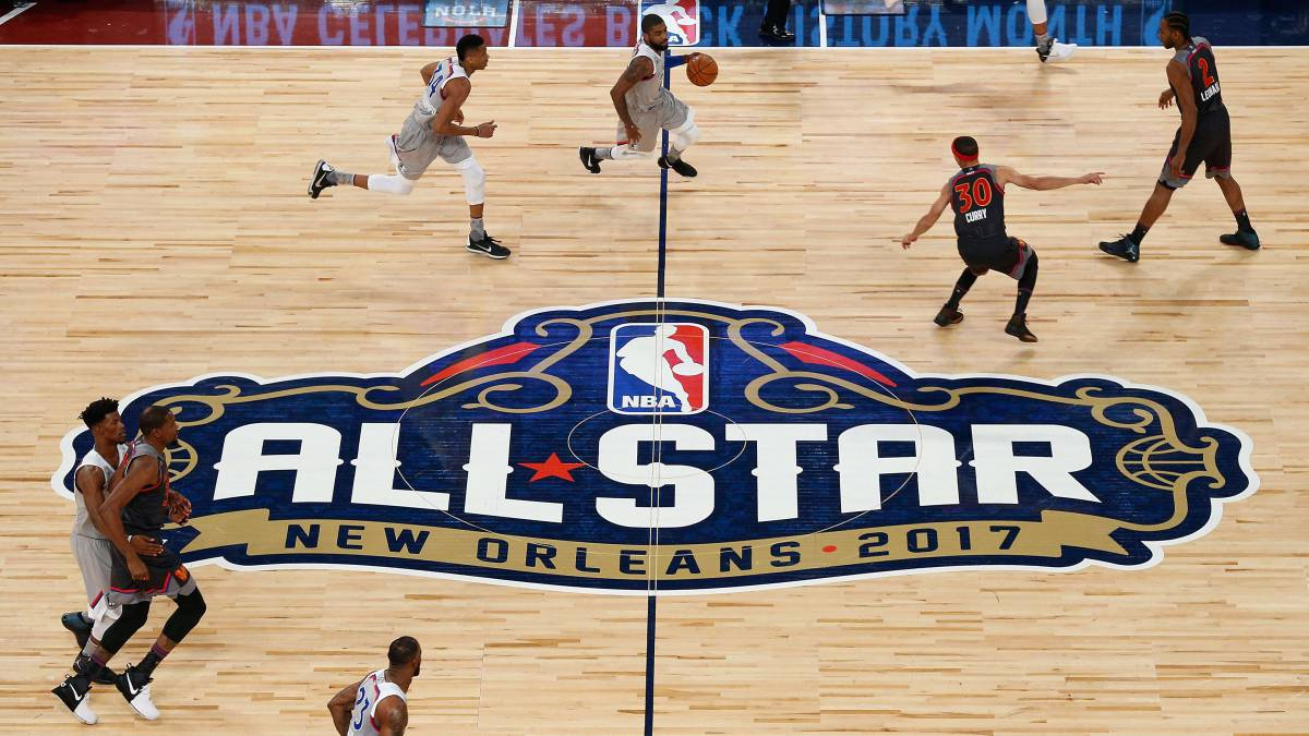 Acción del All Star Game celebrado en Nueva Orleans.