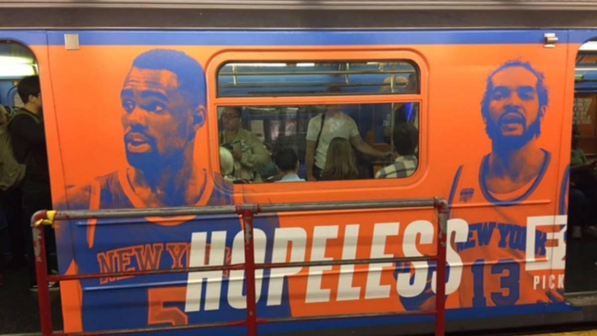 Polémica campaña anti-Knicks en el metro de Nueva York