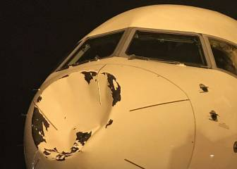 NBA team's plane suffers apparent mid-air collision