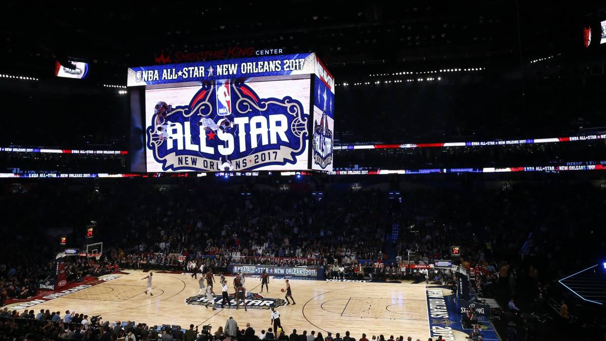 Imagen del Smoothie King Center de Nueva Orleans durante el All Star Game de 2017.