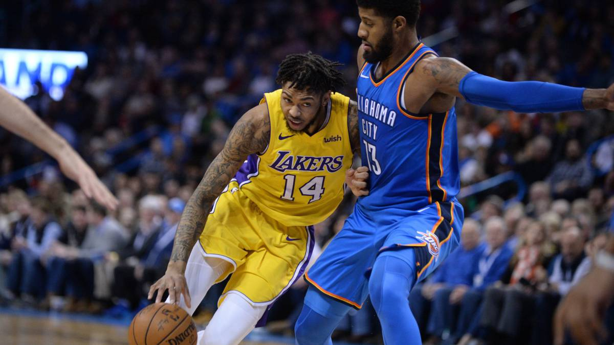 Los Lakers no le enseñan nada a Paul George: 0-8 sin Lonzo Ball