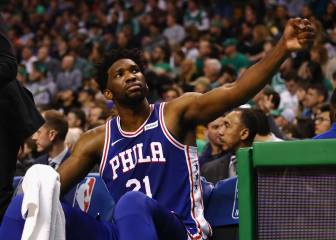 El 'all star' Embiid (26+16+6) asalta Boston y planta a Rihanna