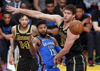 Los Lakers aplastan a OKC y el Staples corteja a Paul George