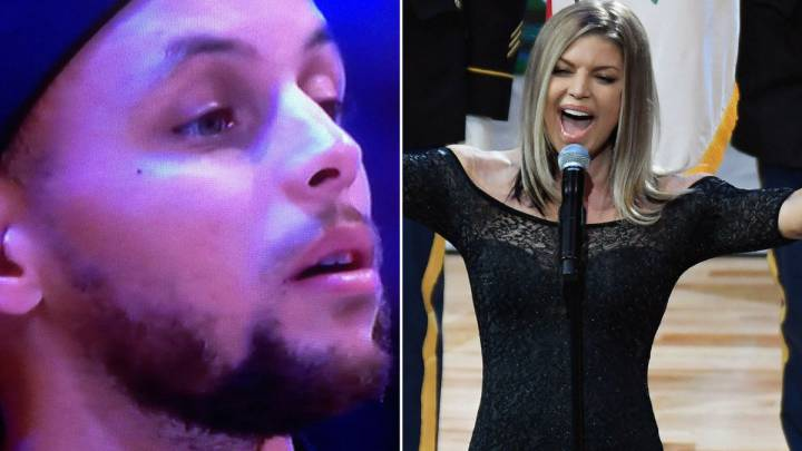 A Curry no le gustó la sensual interpretación de Fergie