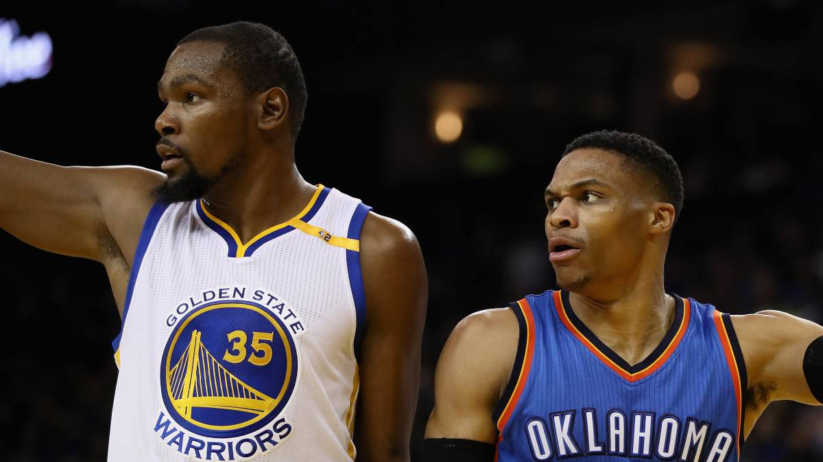 Kevin Durant y Russell Westbrook.