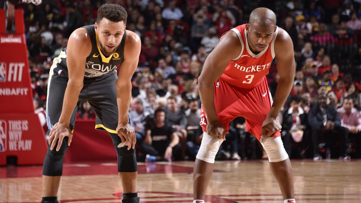 Stephen Curry y Chris Paul