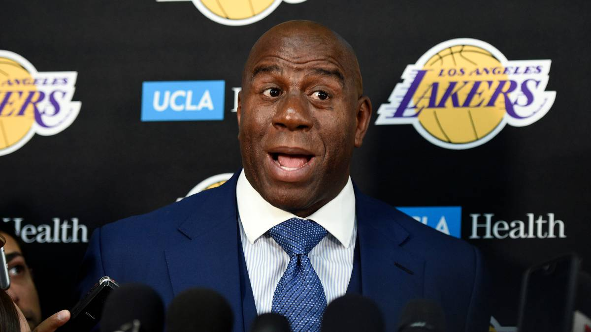 Magic Johnson, presidente de los Lakers, dio detalles sobre su reunión con LeBron James antes de ficharle.